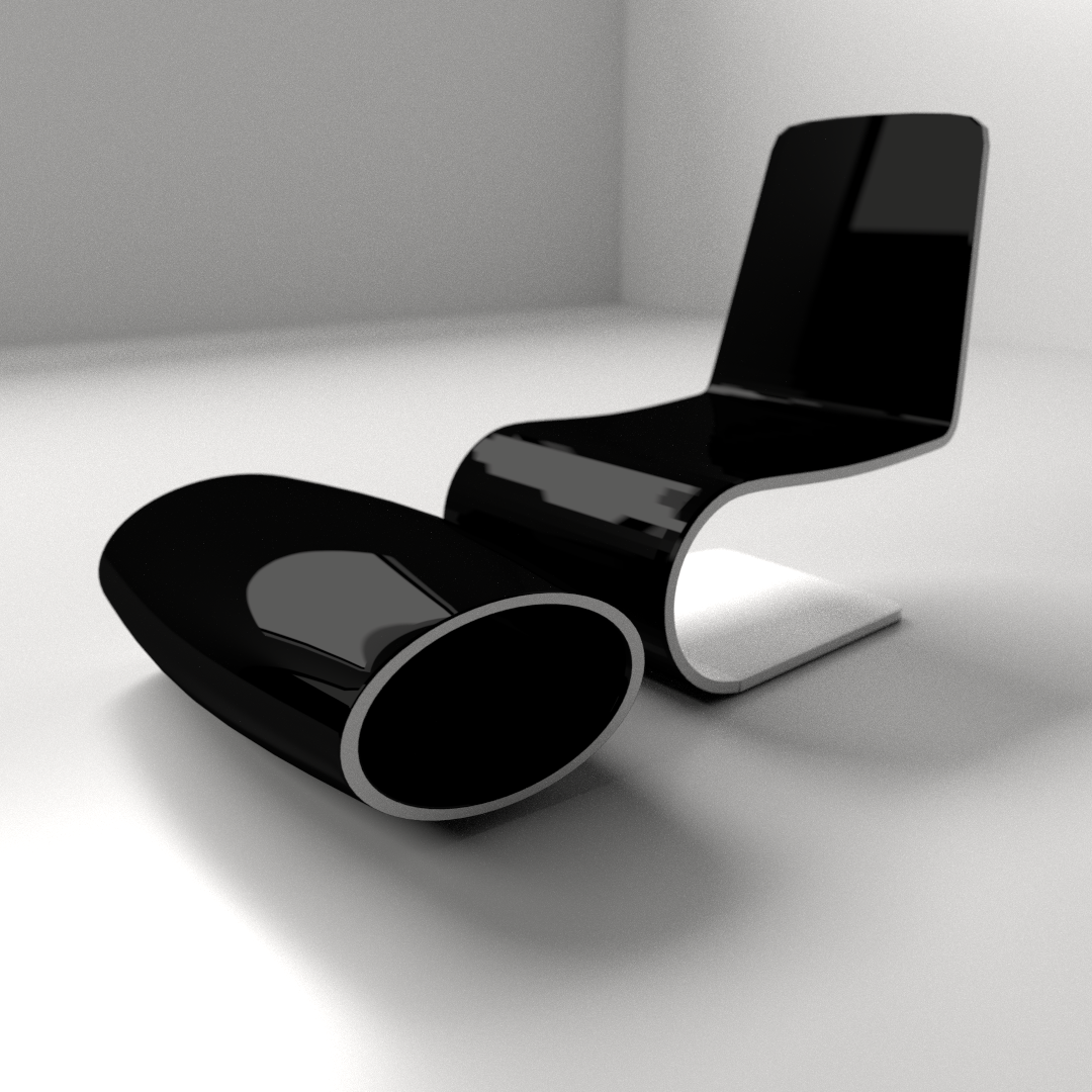 Modern chair 1 3d model 3ds fbx blend dae for Modern furniture design