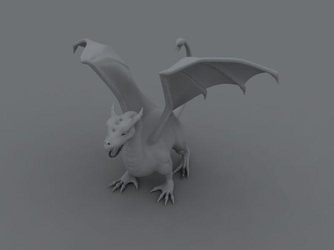 dragon 3d model max 1