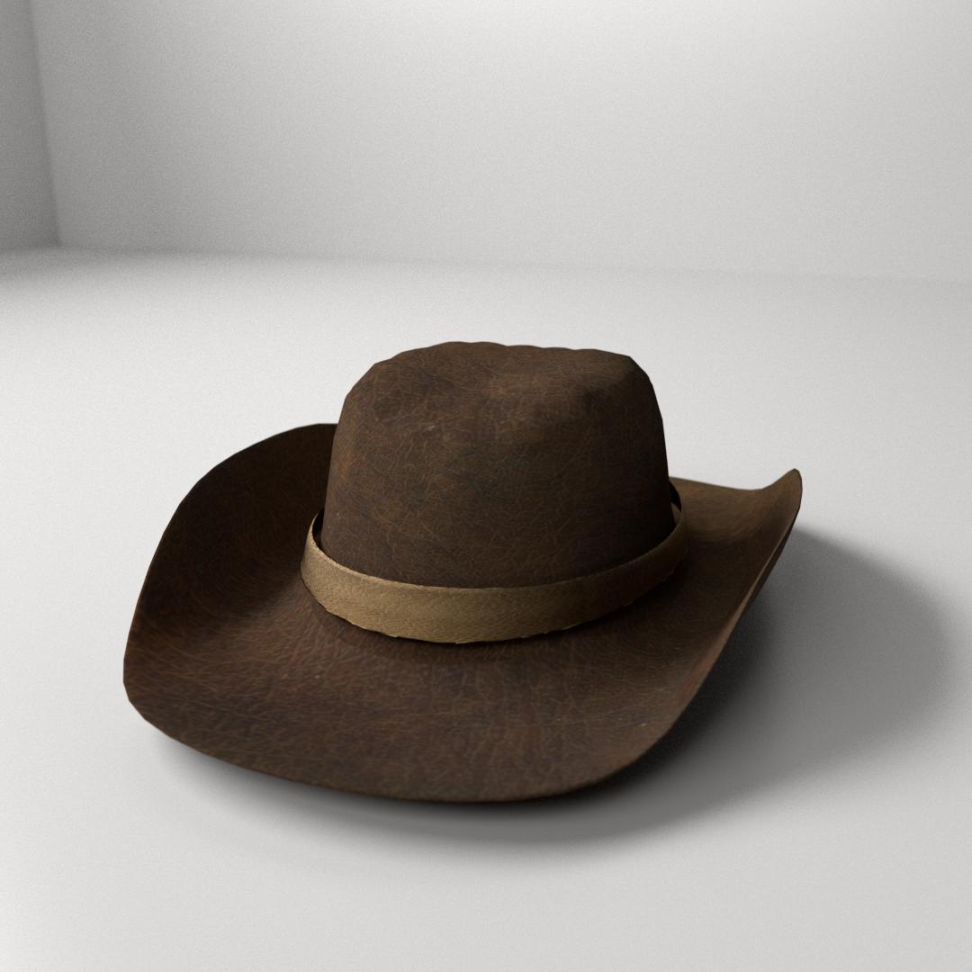 716f2bdf46d cowboy hat 3d model 3ds fbx blend dae 1 ...