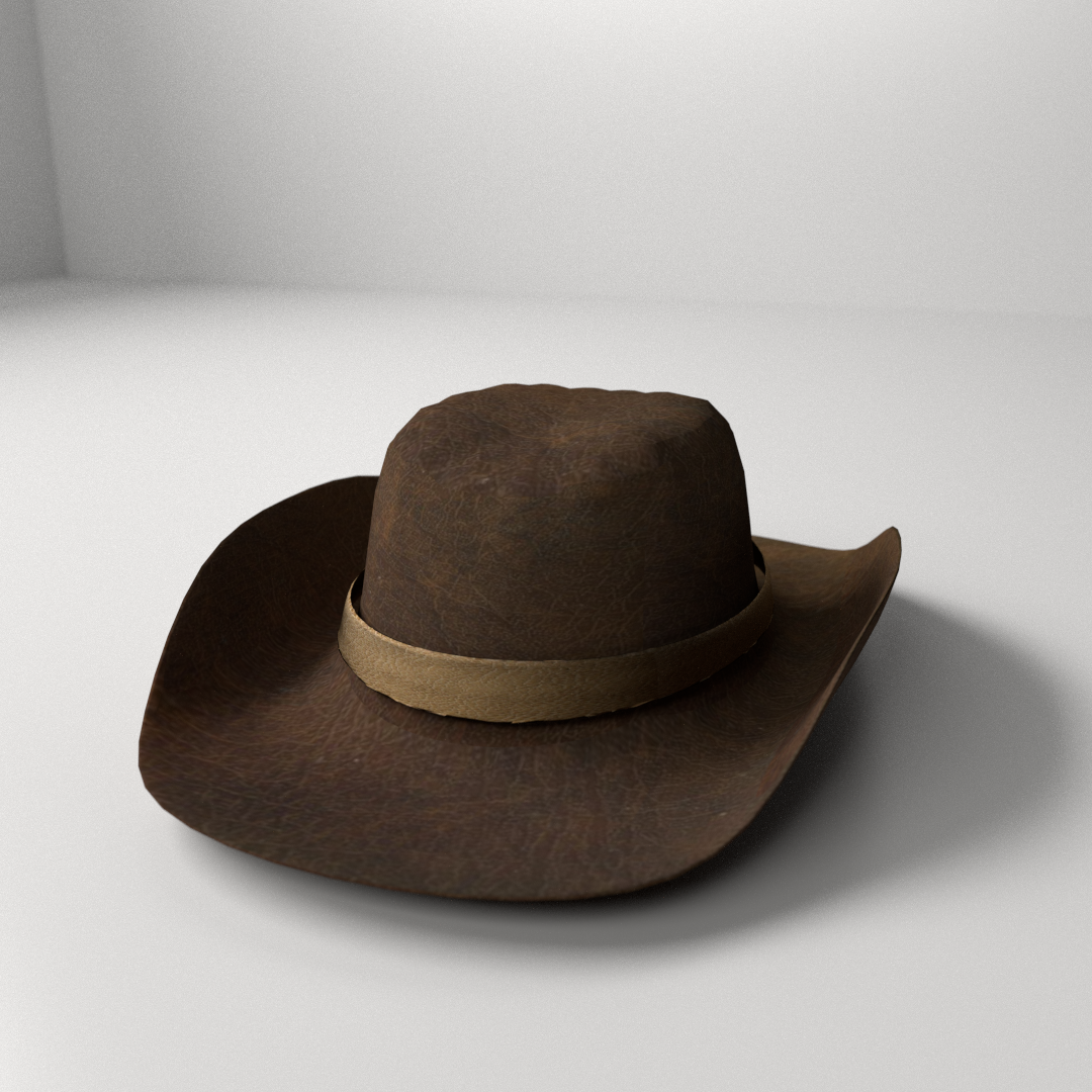 Cowboy Hat 3d Model 3ds Fbx Blend Dae Cgtrader Com