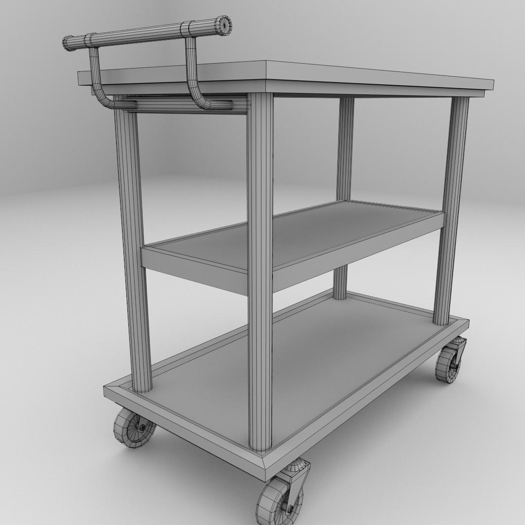 Food Cart 3d Model 3ds Fbx Blend Dae Cgtrader Com