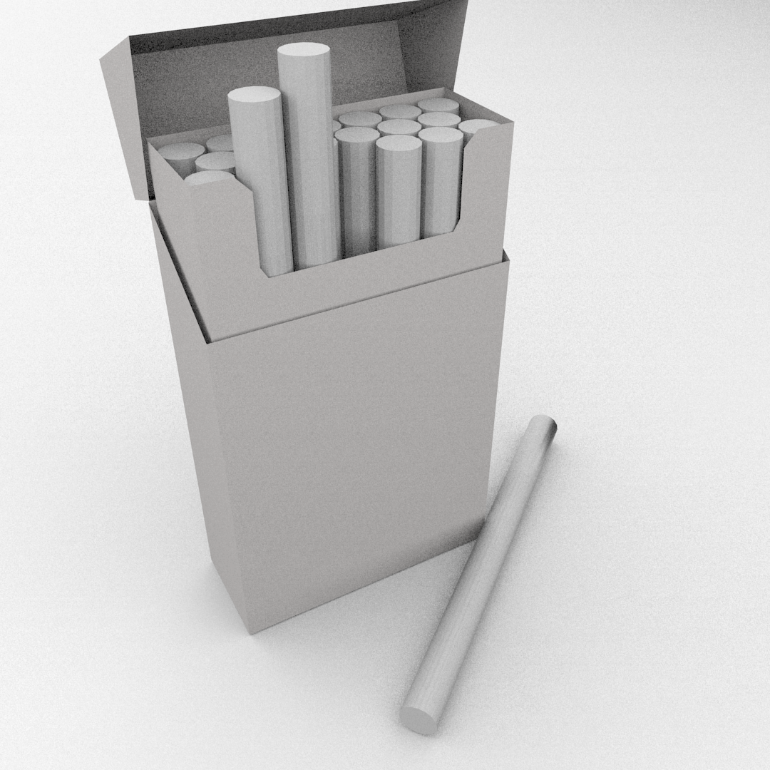 Cigarette Box 3D Model 3DS FBX BLEND DAE | CGTrader.com