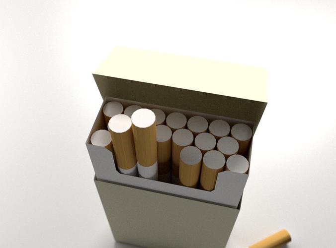Cigarette Box 3D Model 3DS FBX BLEND DAE - CGTrader.com