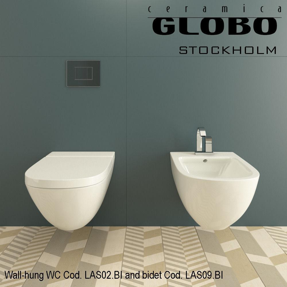 Globo stockholm wall hung wc cod las02bi a 3d model max obj mtl - Wc model ...
