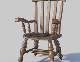 Windsor chair 3D