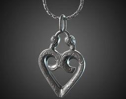 heart pendant - 20mm 3d printable model