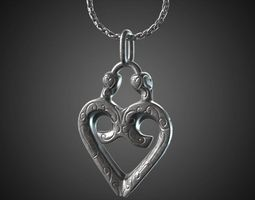 3D print model Heart pendant - 20mm