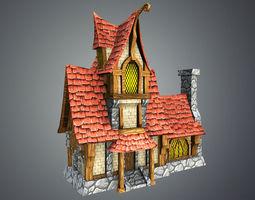 fairytale house 3d asset VR / AR ready