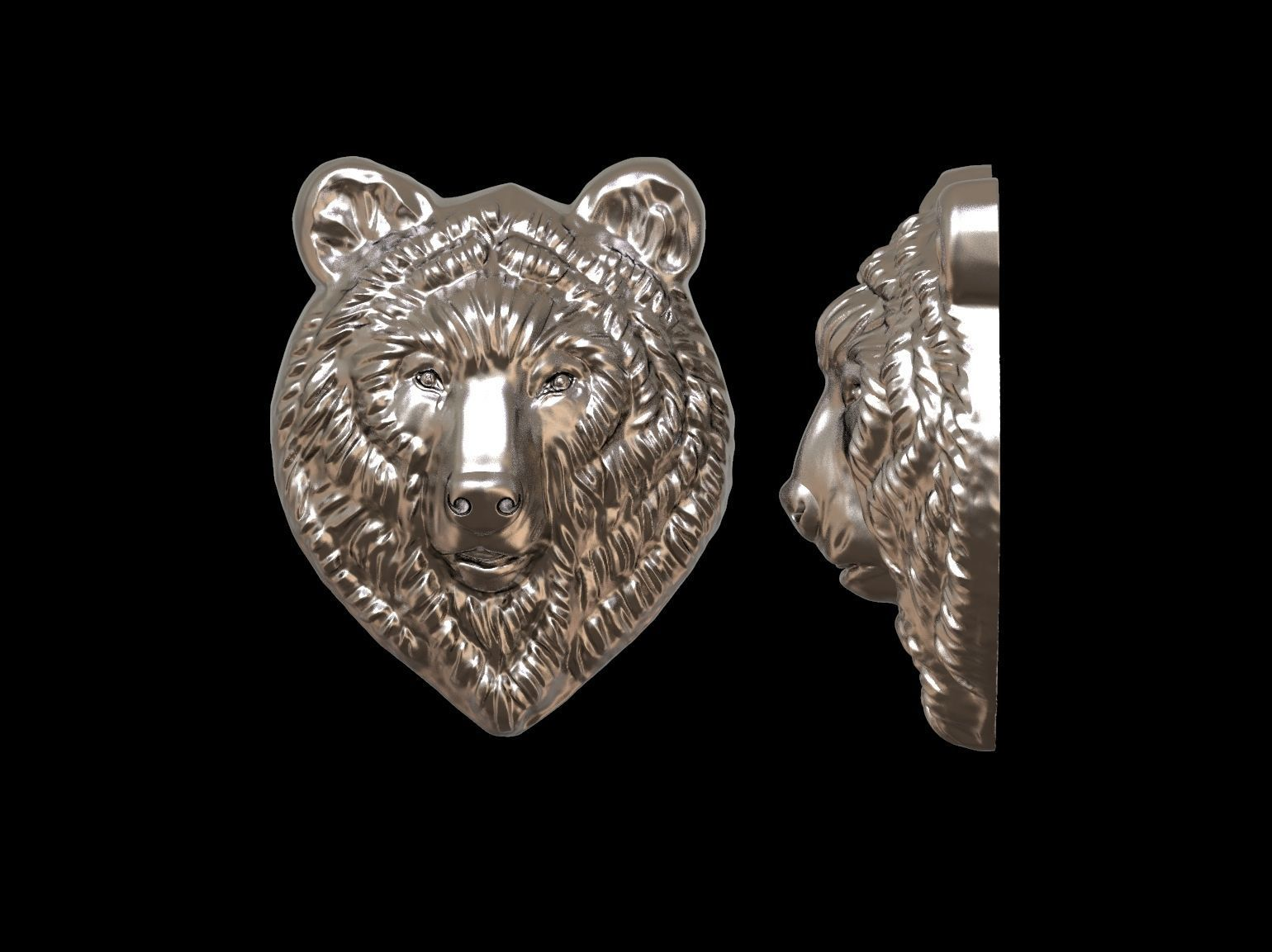 Bear relief for pendant