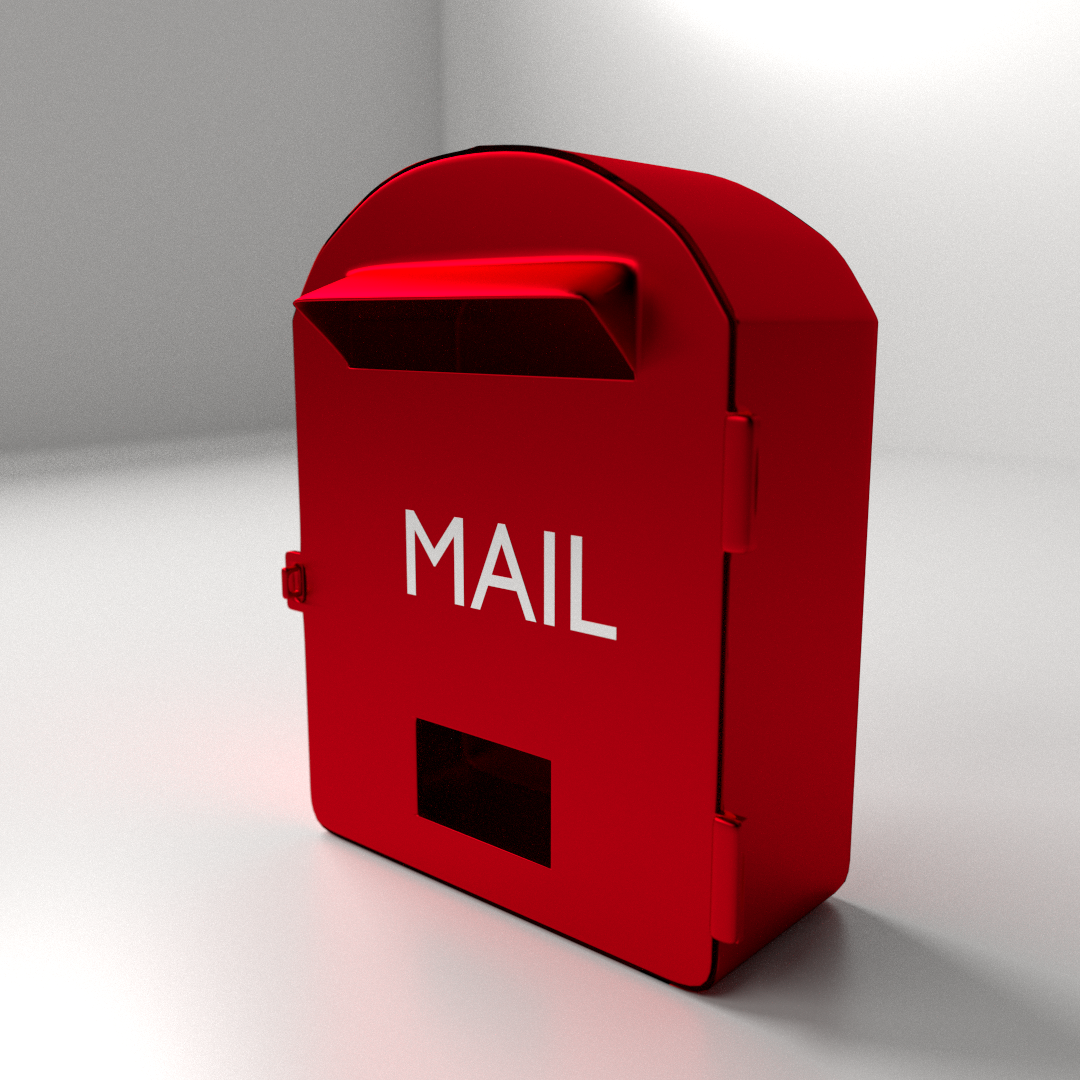 Mailbox 3D Model 3ds fbx blend dae CGTrader