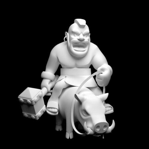 Hog Rider Printable 2 3D Model 3D Printable .stl