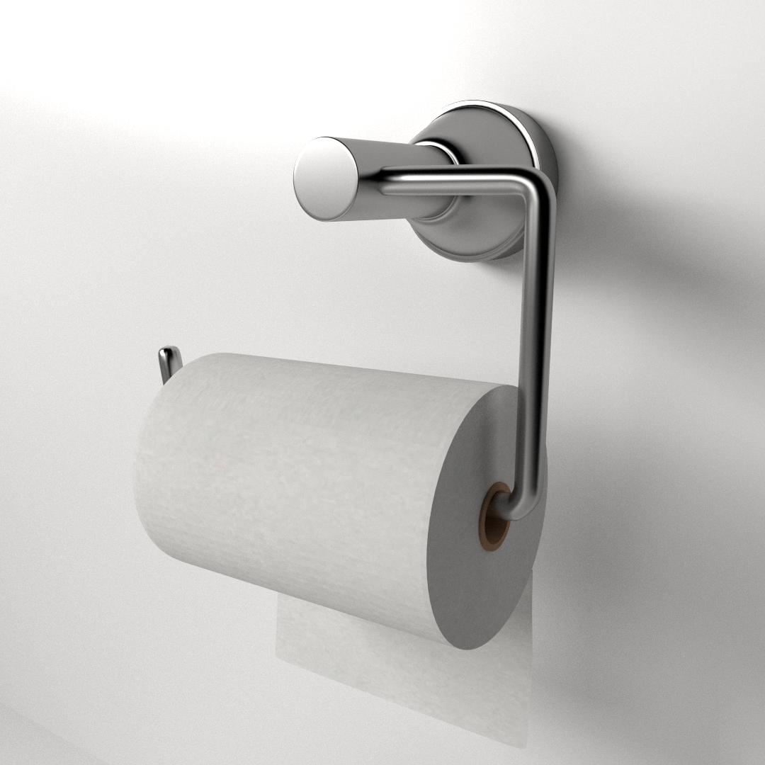 toilet paper holder d  cgtrader - toilet paper holder d model ds fbx blend dae
