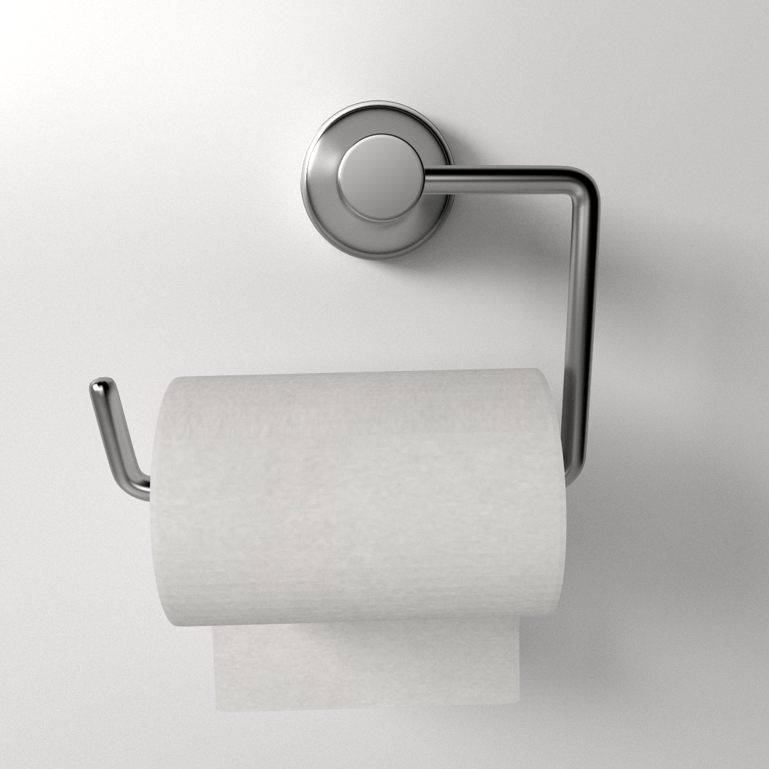 Toilet Paper Holder 3D Model .3ds .fbx .blend .dae