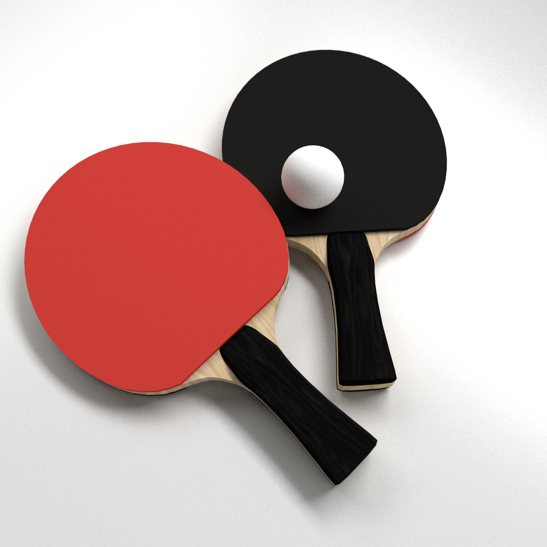 Table tennis set 3d model 3ds fbx blend dae for Table tennis
