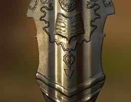 3D asset Fantasy Realistic Shield 1