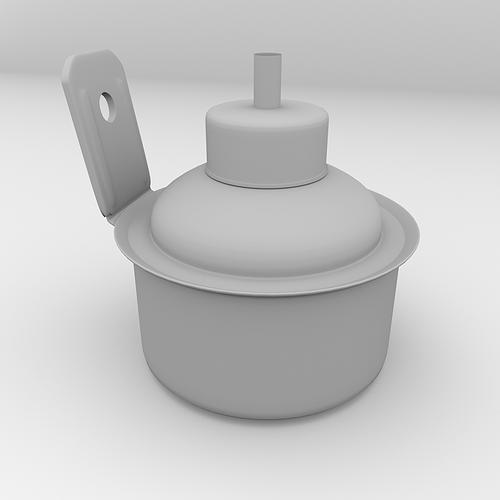 pelita kerosine lamp 3d model 3ds fbx blend dae 4