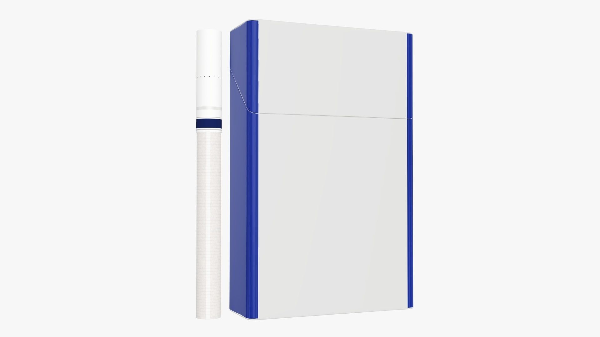 Cigarettes slim compact pack closed