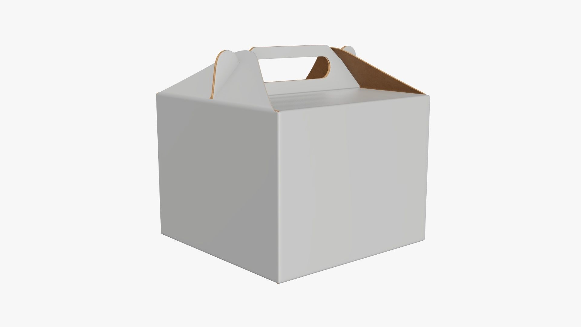 Gable box cardboard food packing 02 white