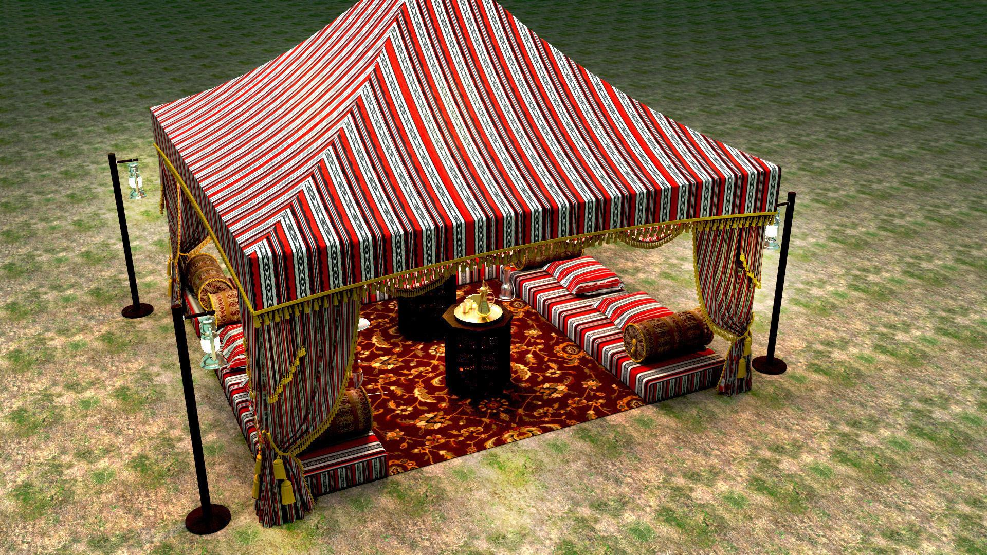 ... arabic tent 3d model max obj fbx mtl 7 & 3D Arabic Tent | CGTrader