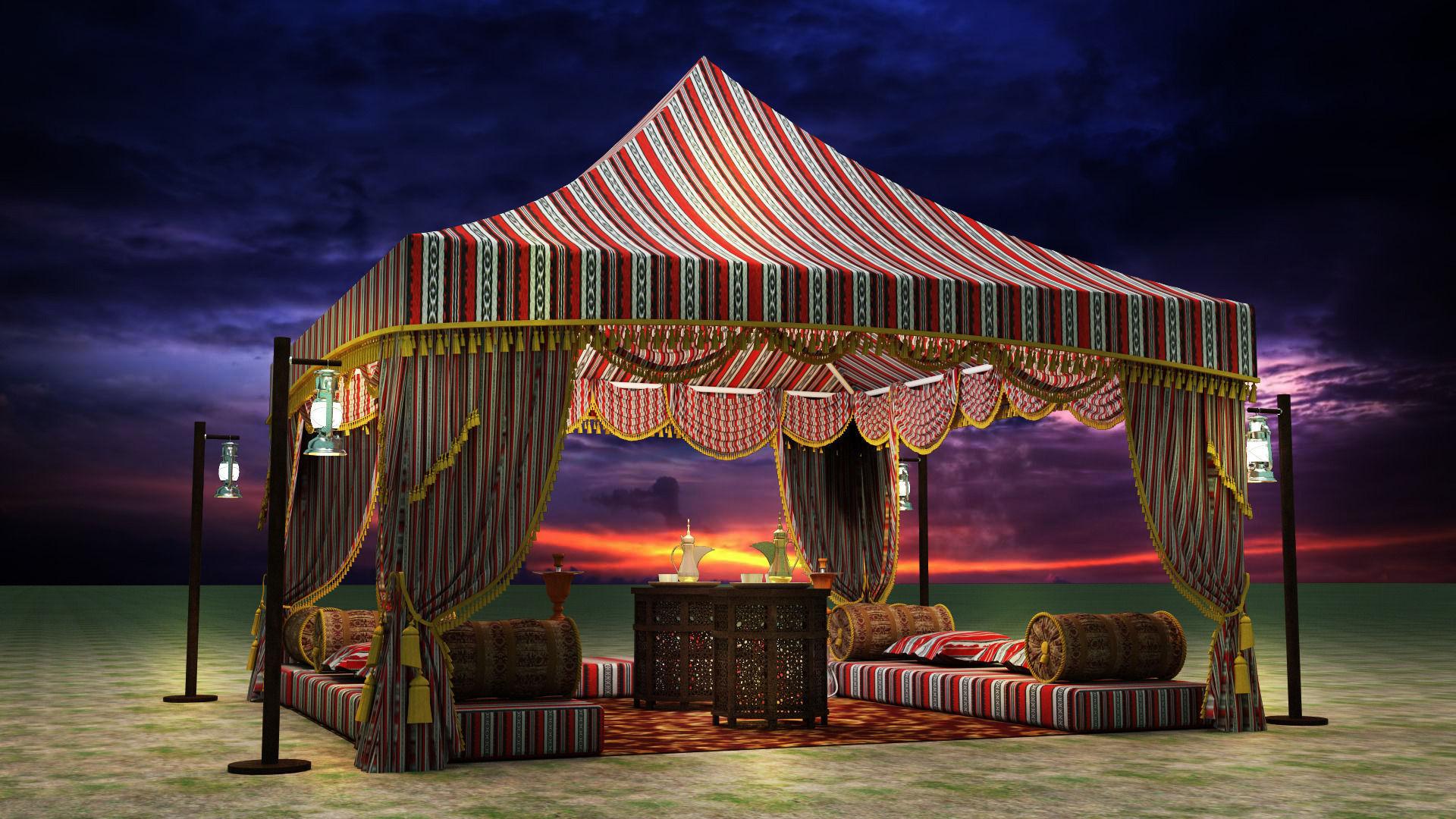 Arabic Tent 3d Model Max Obj Fbx Mtl Cgtrader Com
