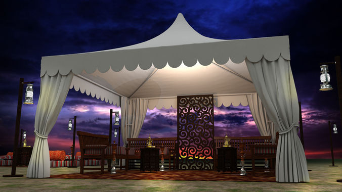 Event Tent Arabic 3d Model Cgtrader