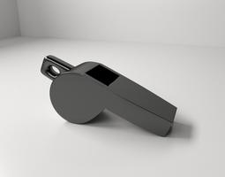whistle 3d model 3ds fbx blend dae