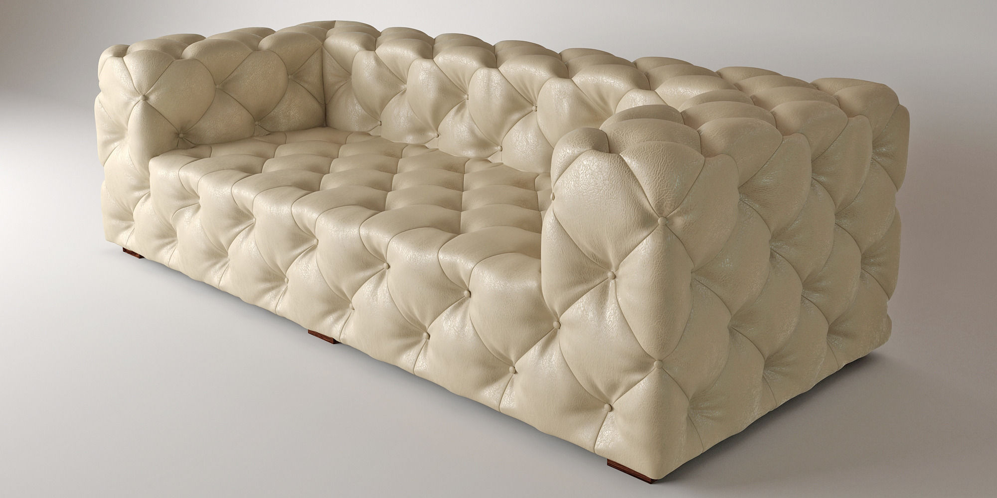 Soho Tufted Leather Sofa 3d Model Max Fbx 1 ...