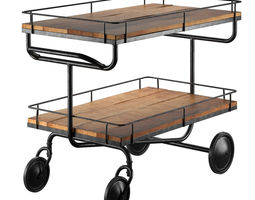 bar trolley Restoration Hardware 3D Model