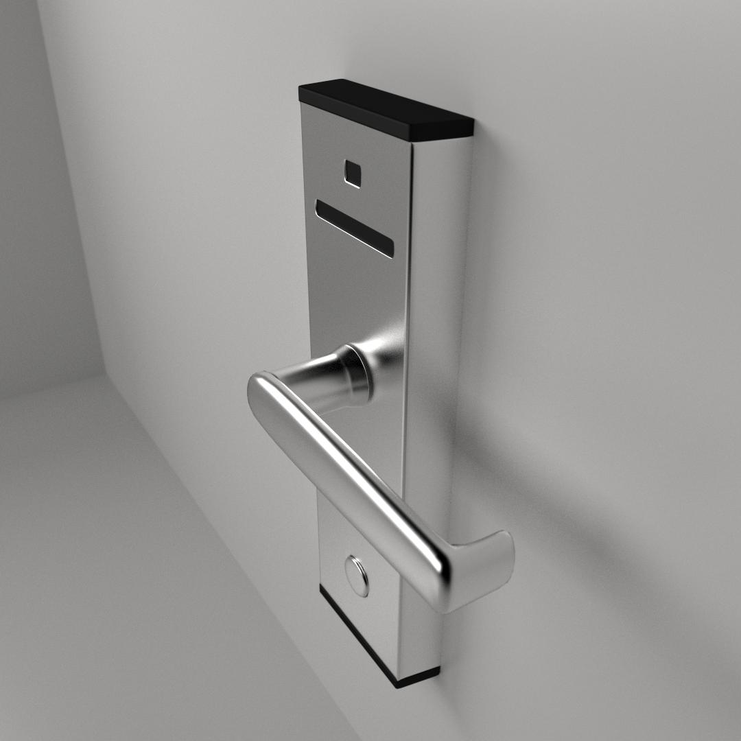 Keycard Lock 3d Model 3ds Fbx Blend Cgtrader Com