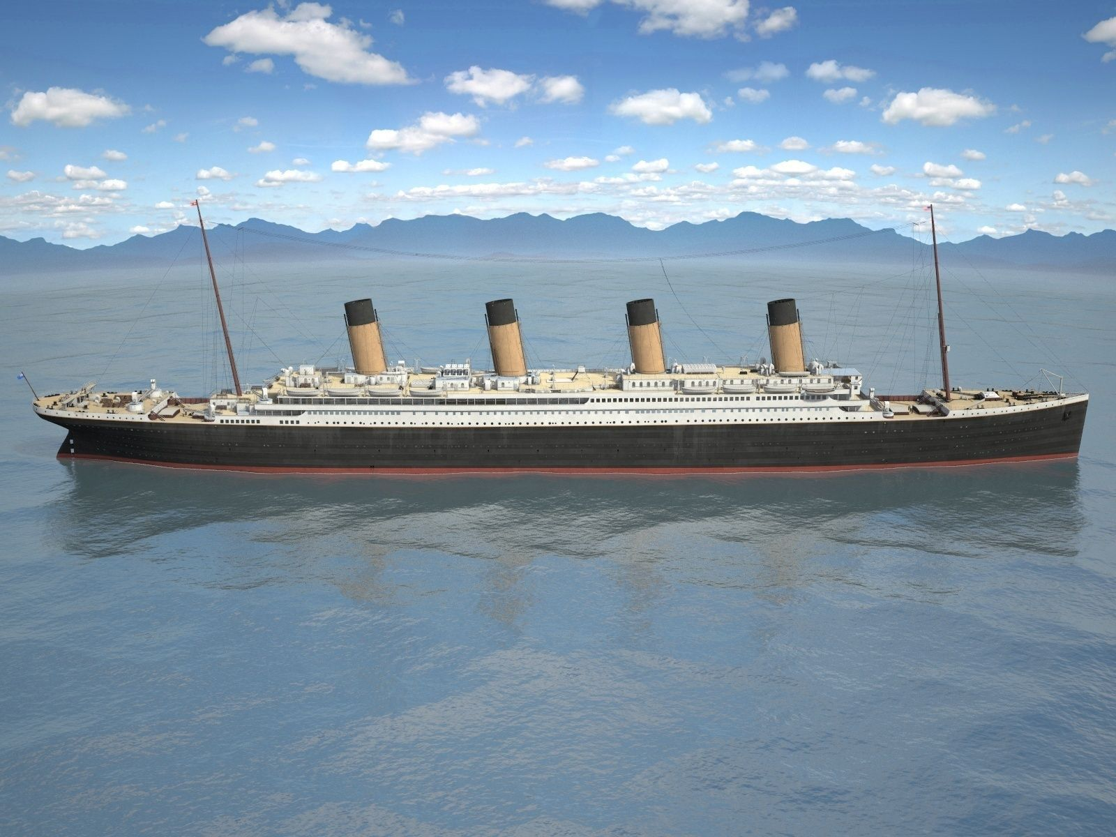 how to make titanic ship model