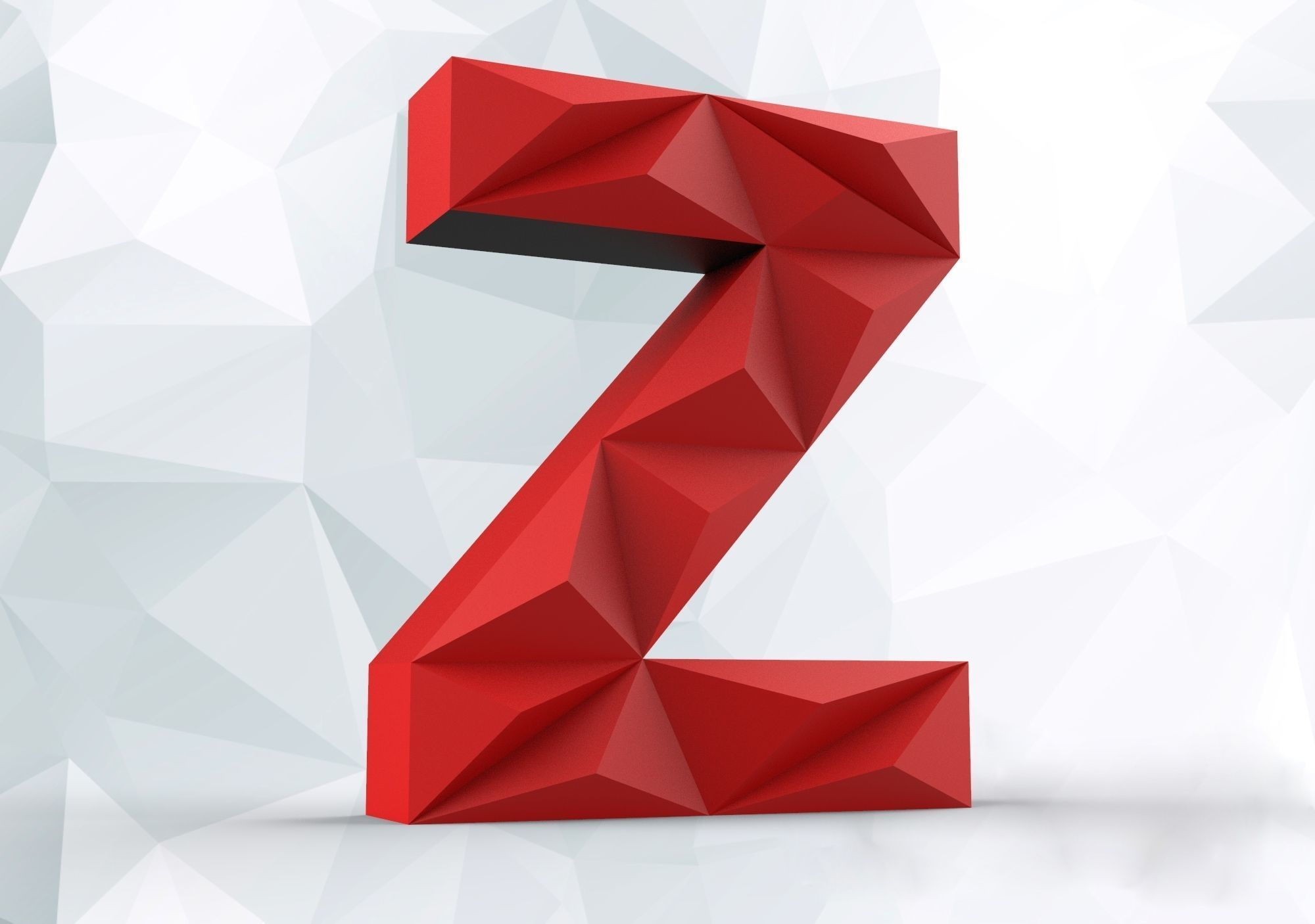 Lowpoly letter Z