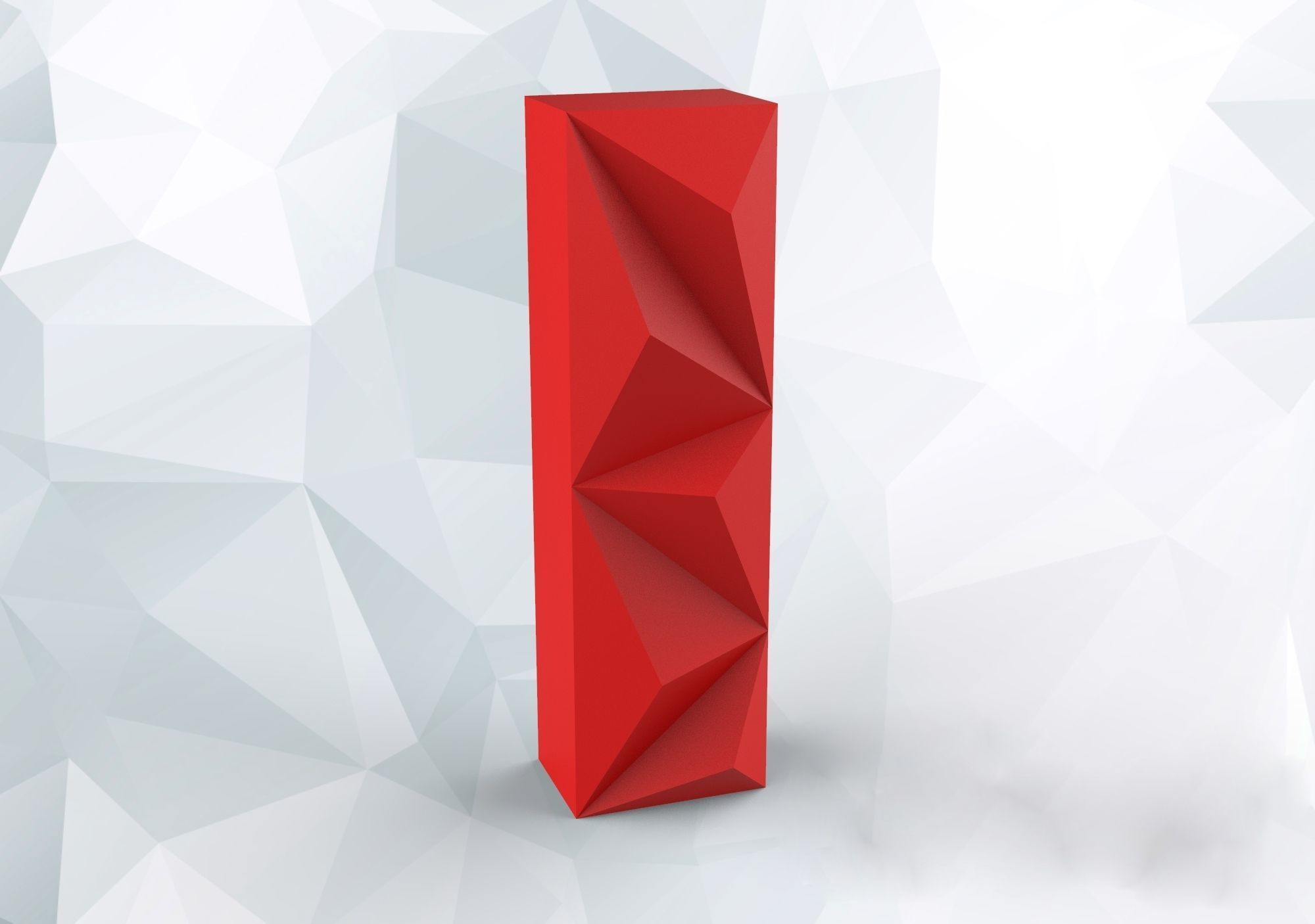 Lowpoly letter I