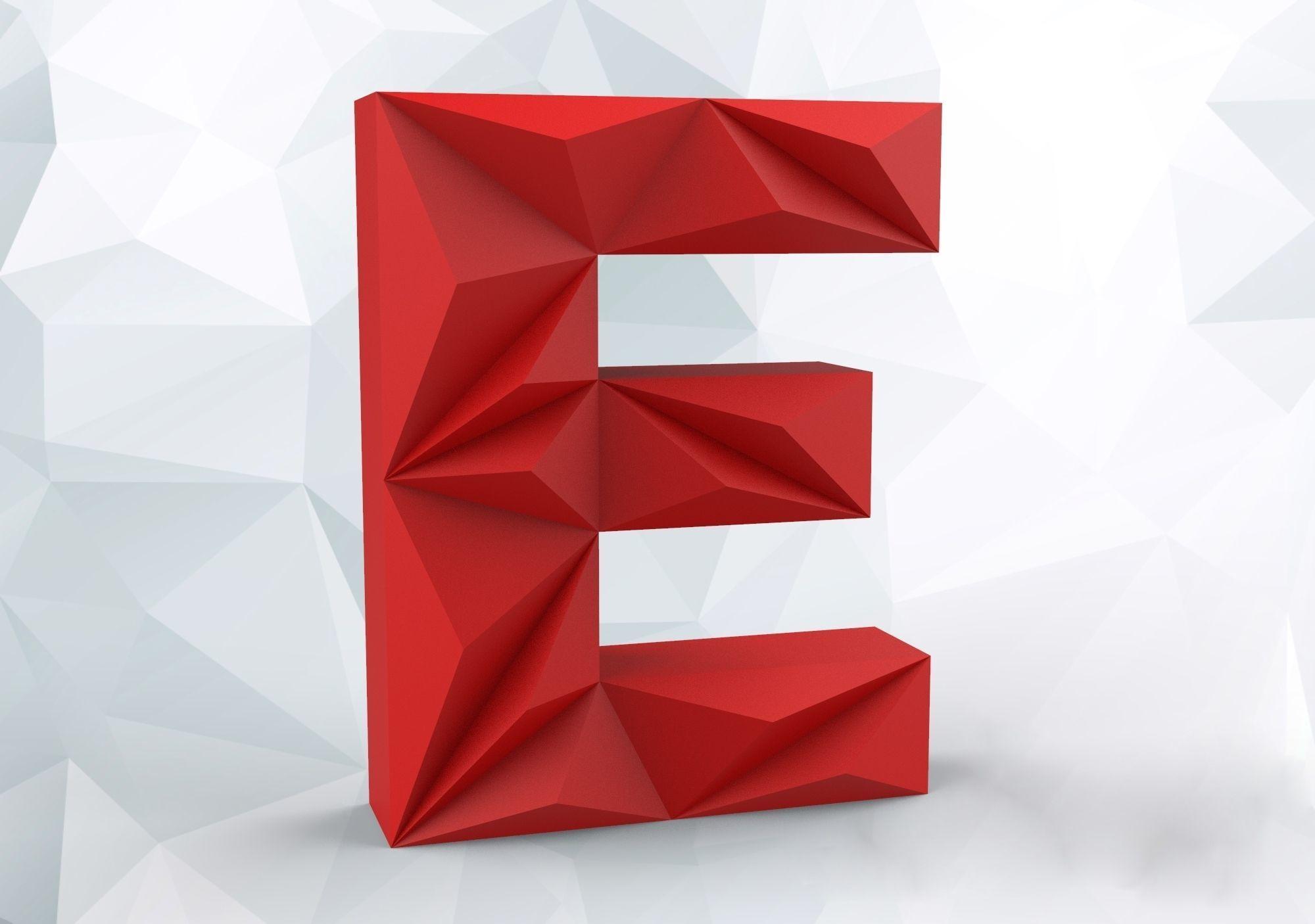 Lowpoly letter E
