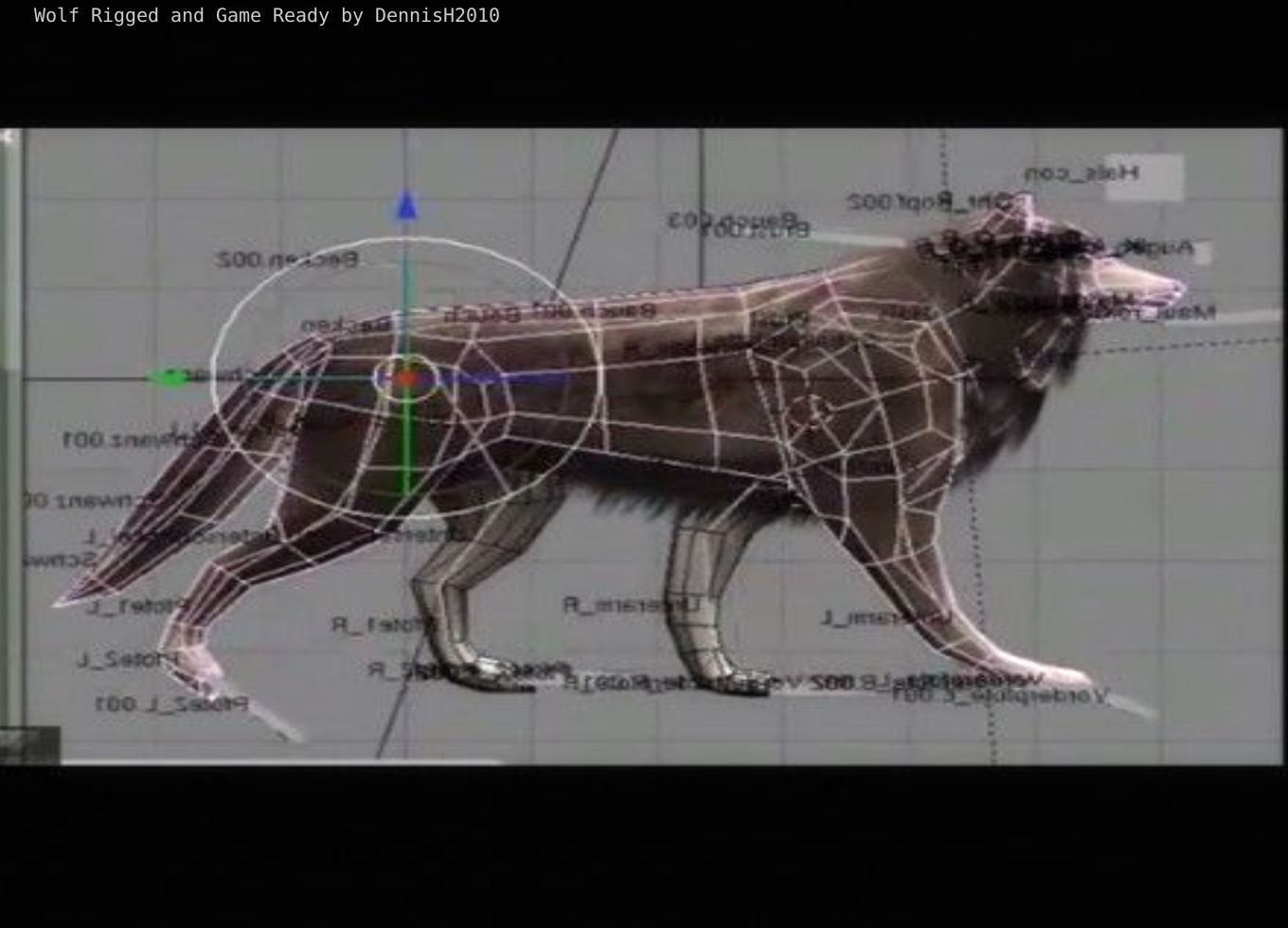Wolf Rigged Animated and Game Ready