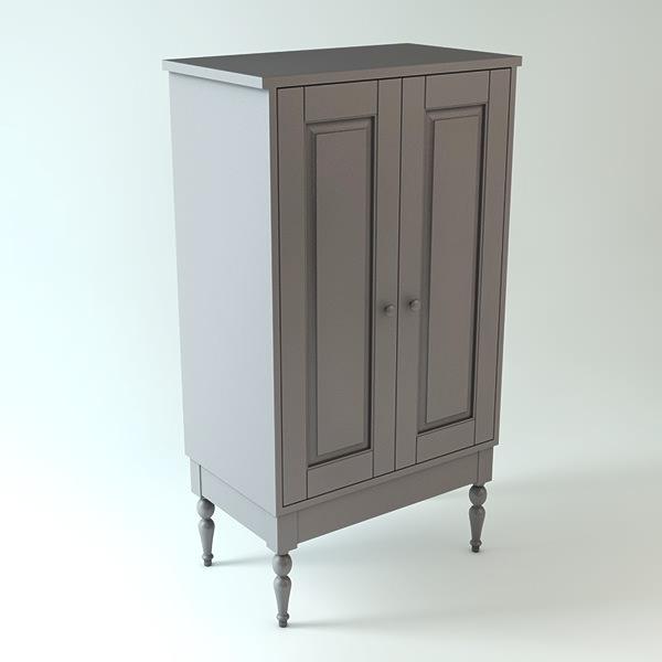 Ikea Cabinet 3d Model Obj 3ds Fbx C4d