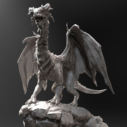 dragon zbrush hd 3d model obj mtl ztl 1