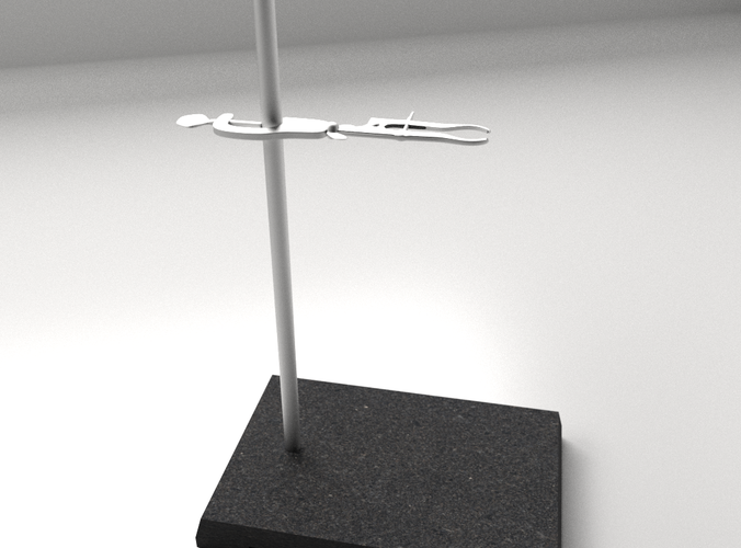 Lab Support Stand3D model