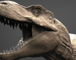 3d realistic t-rex high poly