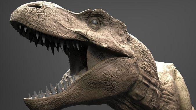 realistic t-rex high poly 3d model obj stl ztl 1