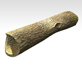 3D model Hollow dead trunk