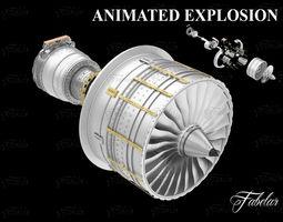Jet engine FREE 3D model