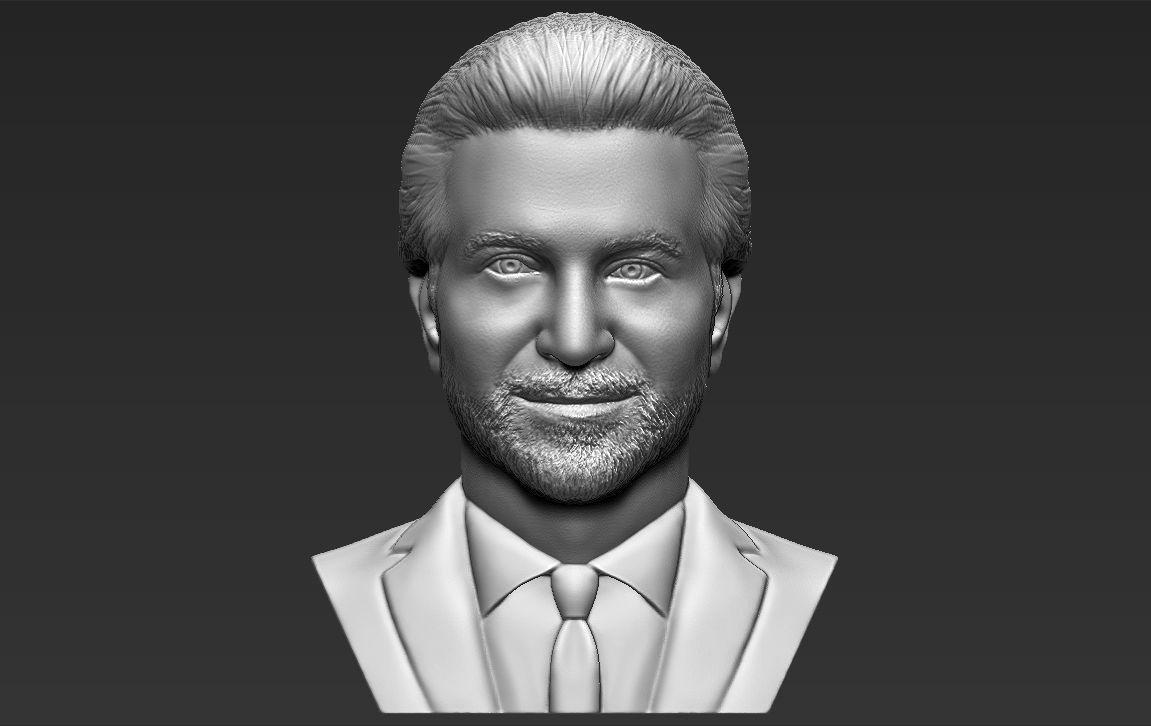 Bradley Cooper bust 3D printing ready stl obj formats