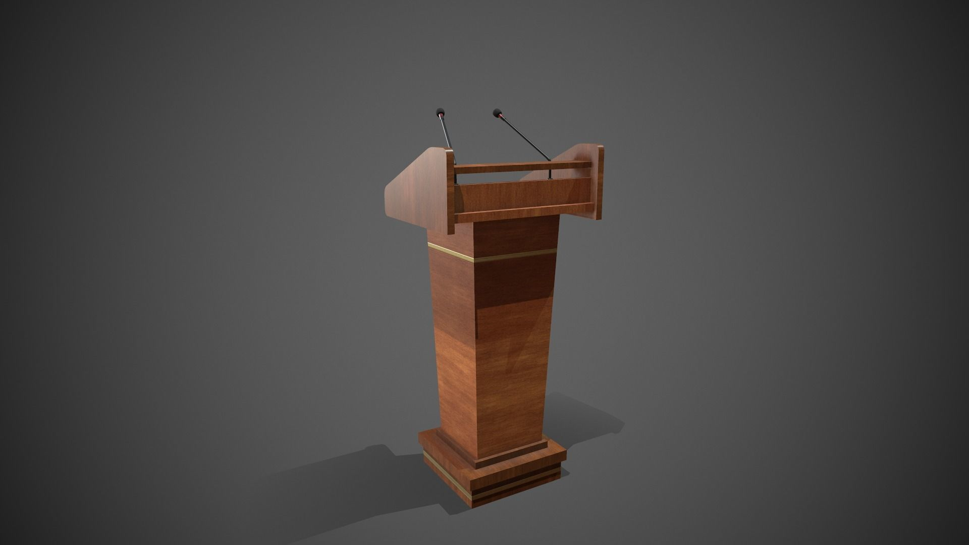 Rostrum Stand with Microphones