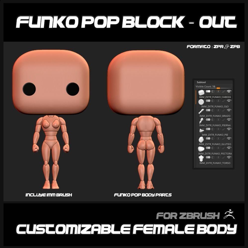 FUNKO POP BLOCK OUT FEMALE BASEMESH