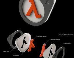 do-it-yourself half-life 2 logo lightbox 3d print model