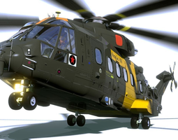 eh 101 helicopter 3d model obj 3ds fbx stl blend dae