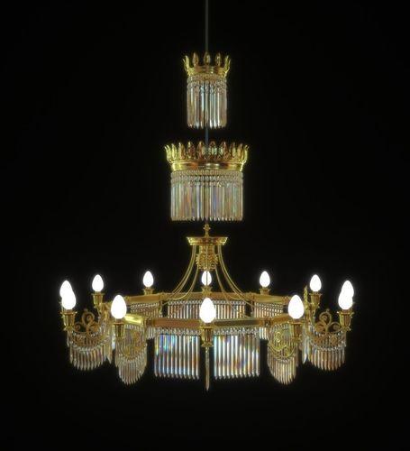 chandelier 3d model lwo lw lws 1