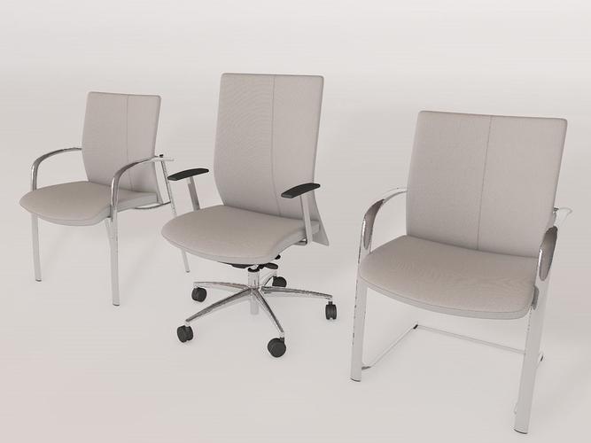 rim fu561 office chair 3d model 3ds fbx c4d 1