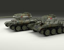 T-34 76 85 Tanks w Interior 3D