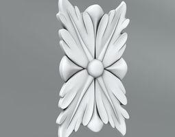 3D rosette Square decoration